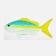 Yellowtail Snapper t Beach Towel