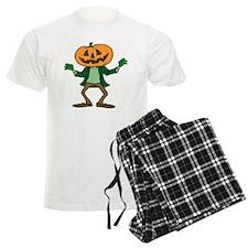 HALLOWEEN ORANGE PUMPKIN HEAD Pajamas