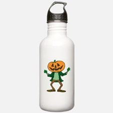 HALLOWEEN ORANGE PUMPKIN HEAD Water Bottle