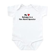 My Heart: Fire Alarm Operator Infant Bodysuit