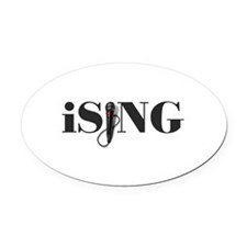 iSING Microphone Performer Oval Car Magnet