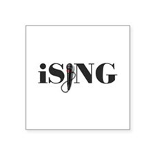 """iSING Microphone Performer Square Sticker 3"""" x 3"""""""