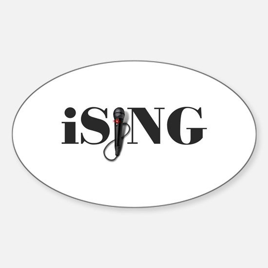 iSING Microphone Performer Sticker (Oval)