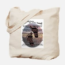 Foot Prints In The Sand Tote Bag