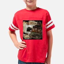 Traveling_Doberman_Rocky_SQ Youth Football Shirt