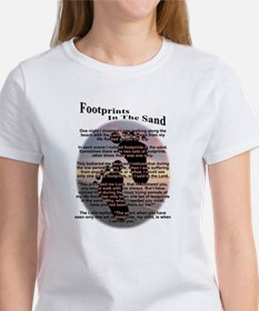 Foot Prints In The Sand Tee
