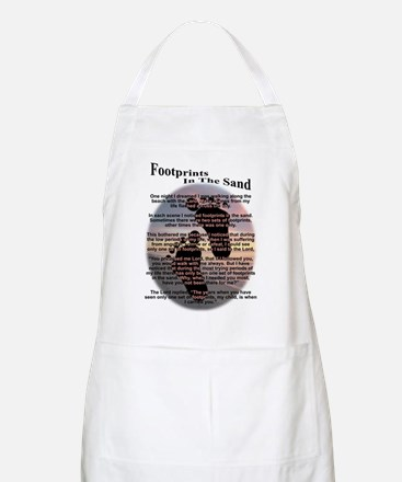 Foot Prints In The Sand BBQ Apron