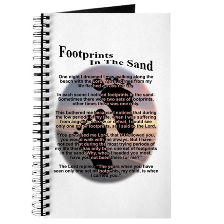 Foot Prints In The Sand Journal
