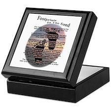 Foot Prints In The Sand Keepsake Box