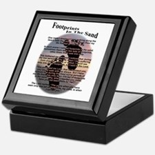 Foot Prints In The Sand Keepsake Box