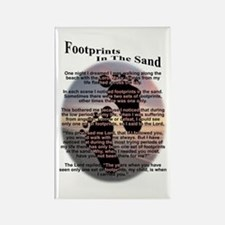 Foot Prints In The Sand Rectangle Magnet
