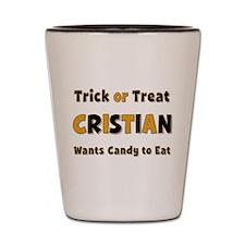 Cristian Trick or Treat Shot Glass