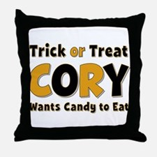 Cory Trick or Treat Throw Pillow