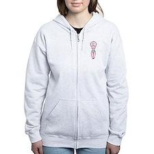 Goddess - fertility Pink Lt. Green Zip Hoodie