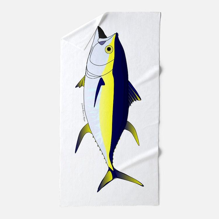 Yellowfin Tuna V Beach Towel