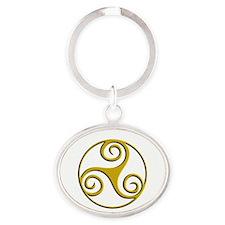 Triple Spiral 01b Keychains
