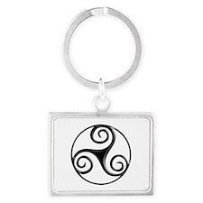 Triple Spiral 01c Keychains