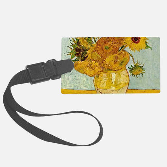Vincent Van Gogh Sunflower Paint Luggage Tag