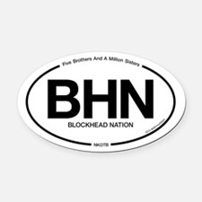 Cute New kid on the block baby Oval Car Magnet