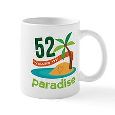 52nd Anniversary Paradise Small Mugs