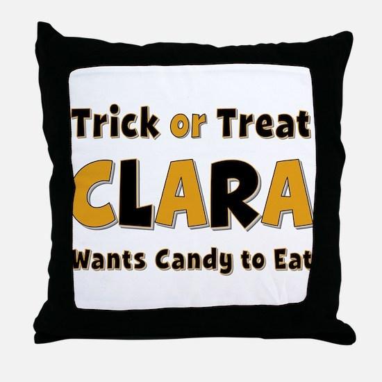 Clara Trick or Treat Throw Pillow