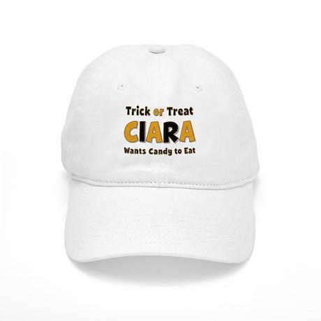 ciara trick or treat baseball baseball cap by namestuff tot aj