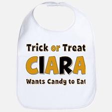 Ciara Trick or Treat Bib