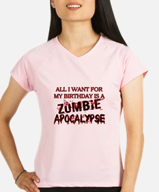 Birthday Zombie Apocalypse Performance Dry T-Shirt