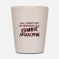 Birthday Zombie Apocalypse Shot Glass