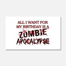 Birthday Zombie Apocalypse Car Magnet 20 x 12