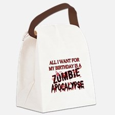 Birthday Zombie Apocalypse Canvas Lunch Bag