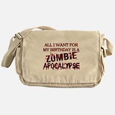 Birthday Zombie Apocalypse Messenger Bag