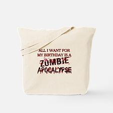 Birthday Zombie Apocalypse Tote Bag