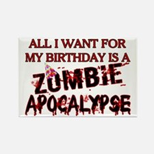 Birthday Zombie Apocalypse Rectangle Magnet
