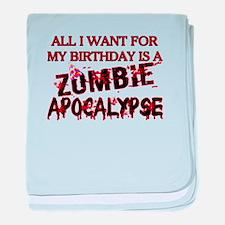 Birthday Zombie Apocalypse baby blanket