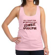 Birthday Zombie Apocalypse Racerback Tank Top