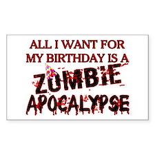 Birthday Zombie Apocalypse Decal
