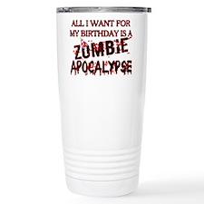 Birthday Zombie Apocalypse Travel Mug