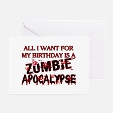Birthday Zombie Apocalypse Greeting Cards (Pk of 2