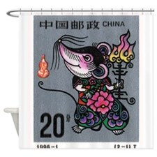 1996 China Year Of The Rat Postage Stamp Shower Cu