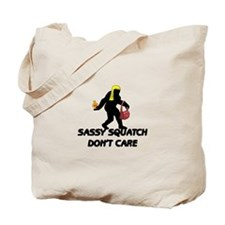 Sassy Squatch Don't Care Tote Bag