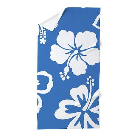 Hibiscus Pattern Beach Towel