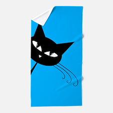 Sneaky Kitty Beach Towel