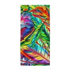 Colorful Feathers Beach Towel