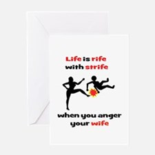Beware the Angry Wife Greeting Card