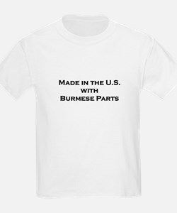 Made in the U.S. with Burmese Parts Kids T-Shirt