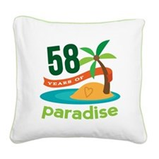 58th Anniversary Paradise Square Canvas Pillow