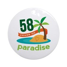 58th Anniversary Paradise Ornament (Round)