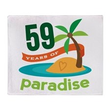 59th Anniversary Paradise Throw Blanket
