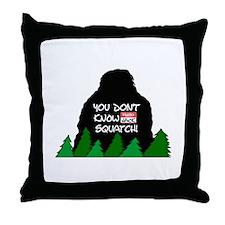 Jack Squatch Throw Pillow